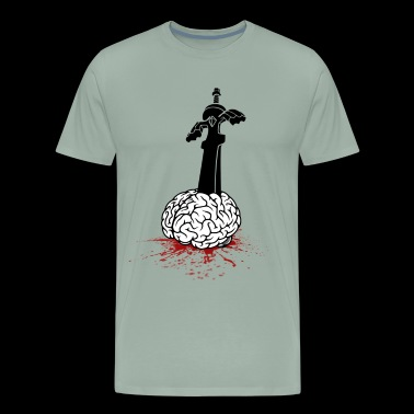 Sword in Brain - Men's Premium T-Shirt