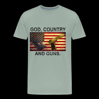 GOD COUNTRY AND GUNS patriotic design. - Men's Premium T-Shirt