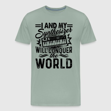 Synthesizer Will Conquer The World Shirt - Men's Premium T-Shirt
