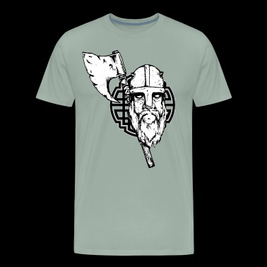 Viking with axe - Men's Premium T-Shirt