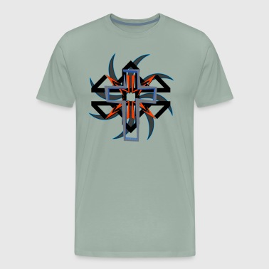 Tribal Cross - Men's Premium T-Shirt