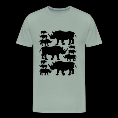 Rhino Shirt - Rhino Love T shirt - Men's Premium T-Shirt