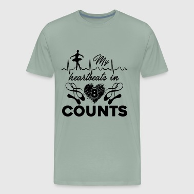 Ballet Heartbeat In Counts Shirt - Men's Premium T-Shirt