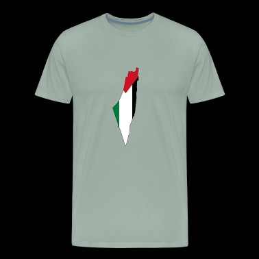 Flag map of Palestine Palestinian - Men's Premium T-Shirt