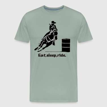 Barrel Rider eat sleep ride - Men's Premium T-Shirt