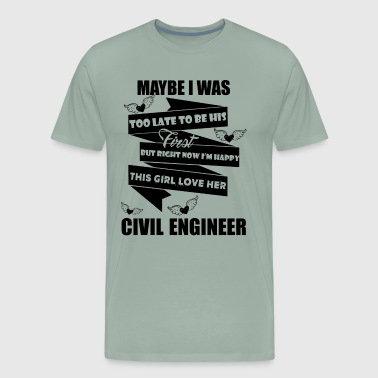 Love Civil Engineer Shirt - Men's Premium T-Shirt