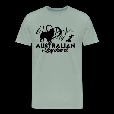 I Love My Australian Shepherd Shirt - Men's Premium T-Shirt
