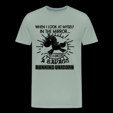 Running Unicorn Shirt - Men's Premium T-Shirt