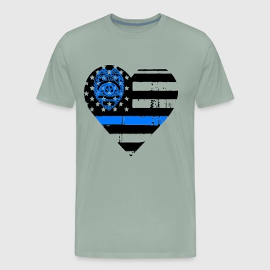 Blue Line Flag Shirt - Men's Premium T-Shirt