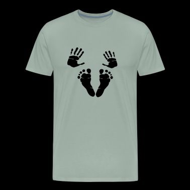 My Baby Foot Hand Prints - Men's Premium T-Shirt