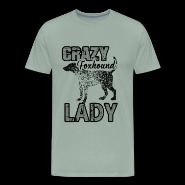 Foxhound Lady Shirt - Crazy Foxhound Lady T shirt - Men's Premium T-Shirt