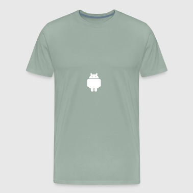 little robot (android) white - Men's Premium T-Shirt