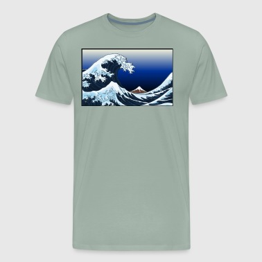 Neo-Art Under the Wave off Kanagawa - Men's Premium T-Shirt