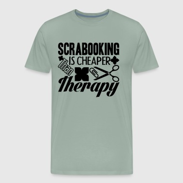 Scrapbooking Therapy Shirt - Men's Premium T-Shirt