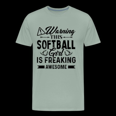 This Awesome Softball Girl Shirt - Men's Premium T-Shirt