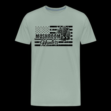 Morel Mushroom Hunter Flag Shirt - Men's Premium T-Shirt