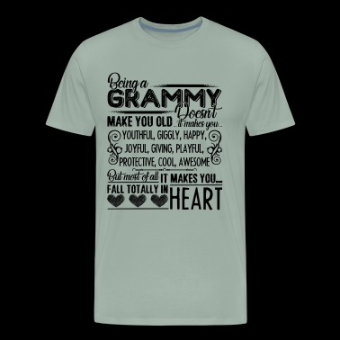 Grammy Shirt - Being A Grammy Heart T Shirt - Men's Premium T-Shirt