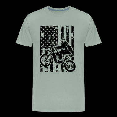 Dirt Biker Shirt - Dirt Biker Flag Shirt - Men's Premium T-Shirt