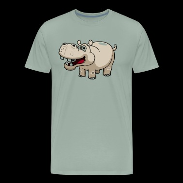 Hippo Shirt - Hippo Love T shirt - Men's Premium T-Shirt