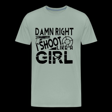 Shoot Like A Girl Shirt - Men's Premium T-Shirt