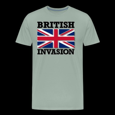 British Invasion with Union Jack Flag - Men's Premium T-Shirt