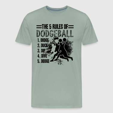 5 Rules Of Dodgeball Shirt - Men's Premium T-Shirt
