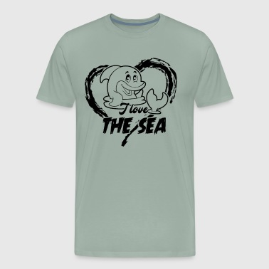 Dolphin Loves The Sea Shirt - Men's Premium T-Shirt