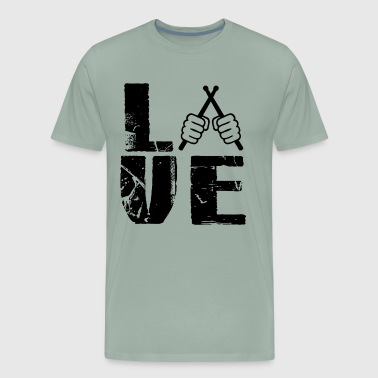 Play Drummer Love T Shirt - Men's Premium T-Shirt