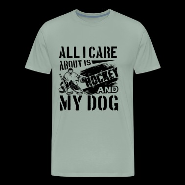 Hokey Shirt - Love Hokey And Dog T shirt - Men's Premium T-Shirt