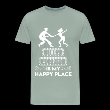 Lindy Hopping is My Happy Place - Men's Premium T-Shirt