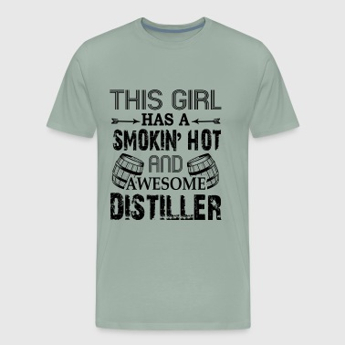 Smoking Hot And Awesome Distiller Shirt - Men's Premium T-Shirt