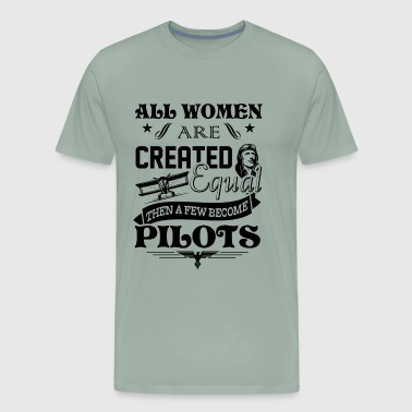 Women Become Pilots Shirt - Men's Premium T-Shirt