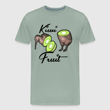 Kiwi Bird Fruit Shirt - Men's Premium T-Shirt