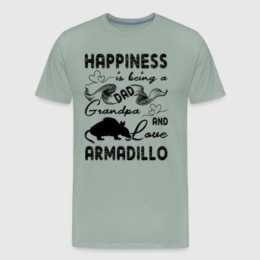 Happiness Is Being A Dad Armadillo Shirt - Men's Premium T-Shirt