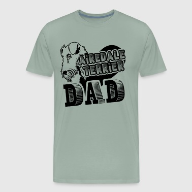 Airedale Terrier Dad Shirt - Men's Premium T-Shirt