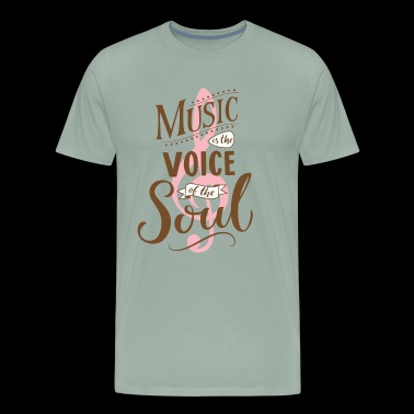 Music Soul Related Design and Emotion as gift - Men's Premium T-Shirt