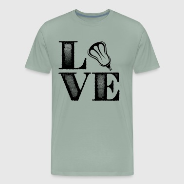 Lacrosse Player Love Shirt - Men's Premium T-Shirt
