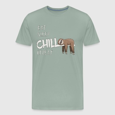 Eat Sleep Chill Repeat Sloth Lovers Lazybones Gift - Men's Premium T-Shirt