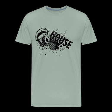 DJ Shirt - House Music Turntable DJ T shirt - Men's Premium T-Shirt