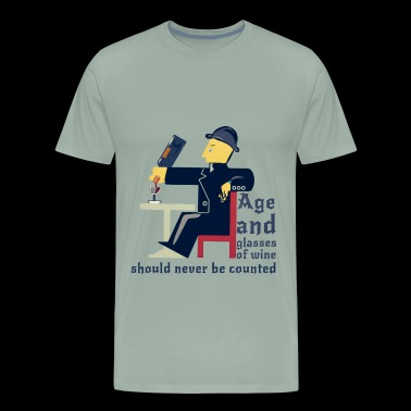 Age and wine - Men's Premium T-Shirt