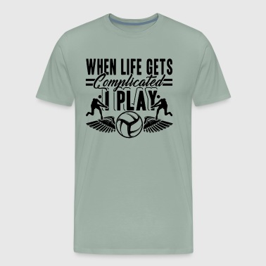 I Play Volleyball Shirt - Men's Premium T-Shirt