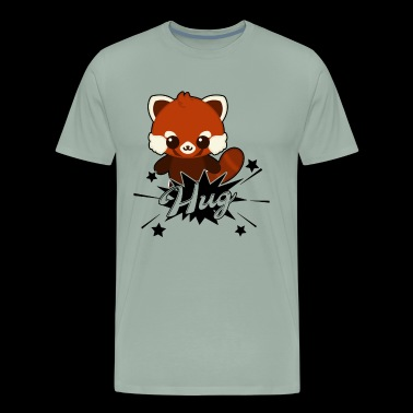 Hug Red Panda Shirt - Men's Premium T-Shirt