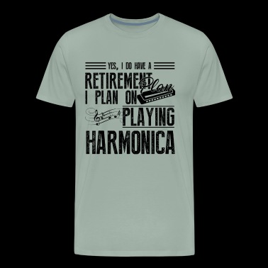 Harmonica Shirt - Playing Harmonica T Shirt - Men's Premium T-Shirt
