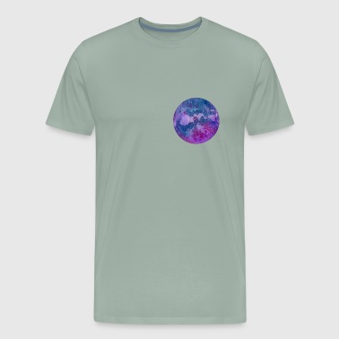 Hand drawn stylized grunge galaxy - Men's Premium T-Shirt