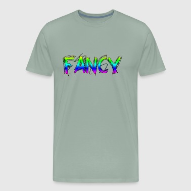 Colorful Rainbow FANCY Text - Men's Premium T-Shirt
