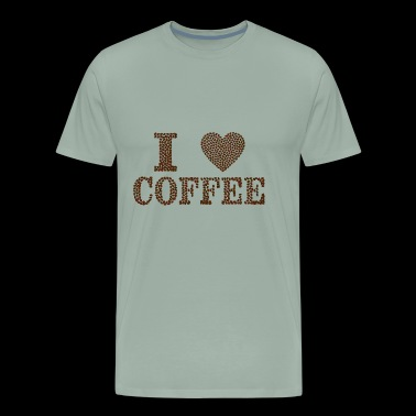 I Love Coffee - Men's Premium T-Shirt