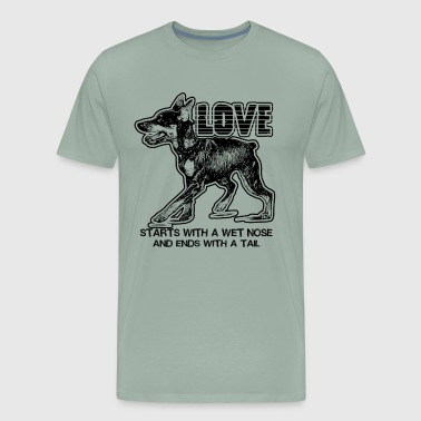 Love Doberman Pinscher Shirt - Men's Premium T-Shirt