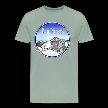Ben Nevis Mountain - Men's Premium T-Shirt