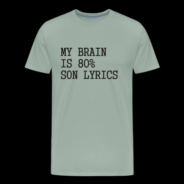 My brain is 80 Funny Slogan - Men's Premium T-Shirt