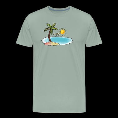 ★ Summer Sun ★ T-Shirt Palm Beach Tropical Shirt - Men's Premium T-Shirt
